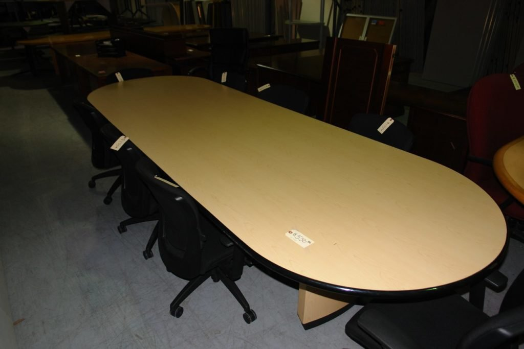 12 39 blonde conference table used furniture for 12 conference table
