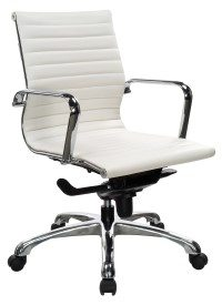 1082 Mid Back Chrome Swivel Chair