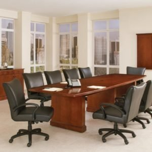 DMI 10′ Boat Shaped Conference Table