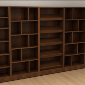 Custom Bookcase with Display Center