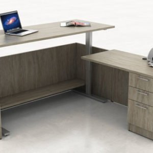 Height Adjustable L-Shape Desk