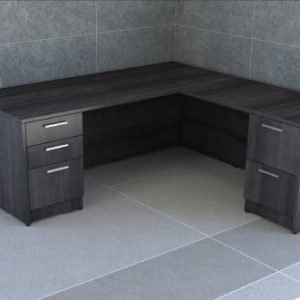 Double Pedestal L-Shape Desk