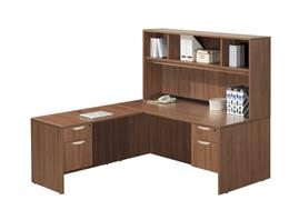 L-Shape Desk with Hutch – Suite PL101
