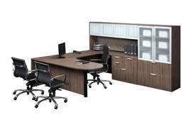 Bullet Top U-Shape Desk – Suite PL133