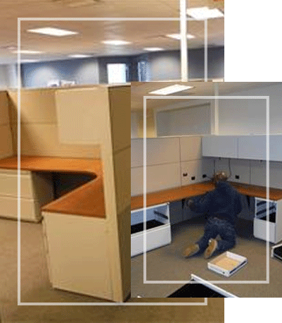 Cubicle Reconfiguration Services by Superior Office Services Nashville, TN