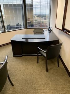 L-shaped desk used