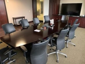 used conference table with chairs