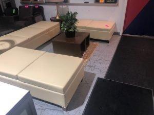 Used Reception Area Seating Cream Colored