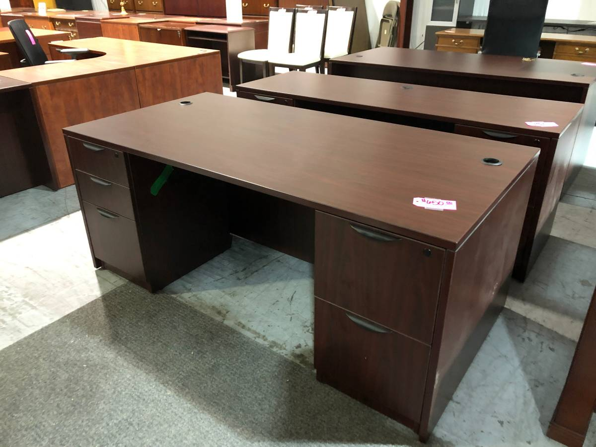 Mahogany Office Desk (Used) | Superior Office Services