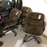 Brown Mid Century Office Chair (used)