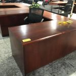 Mahogany Office Furniture U-Shape Desk (used)
