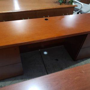 Cherry Credenza Desk (used)
