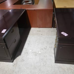 Mahogany Desk and Credenza Office Set (used)