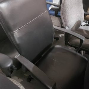 Black Leather Task Chairs (used)