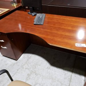 As Is Corner Desk Cherry Office furniture (used)