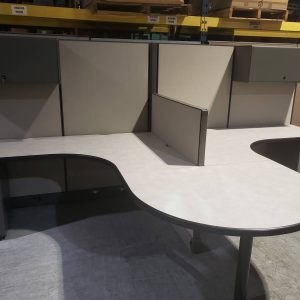 Modern Shared Surface Work Station Office Cubicle (used)