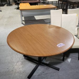 Maple Round Office Conference Table (used)