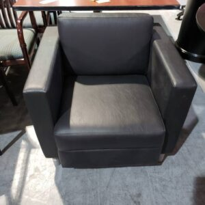 Commercial Grade Leather Club Chair (used)