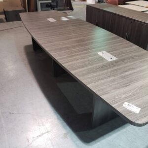 12′ Grey Conference Table (used)