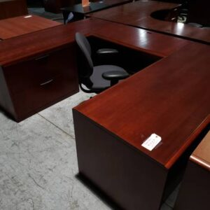 Mahogany U-Shaped Desk