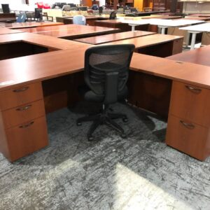 Cherry L-Shape Office Desk (used)