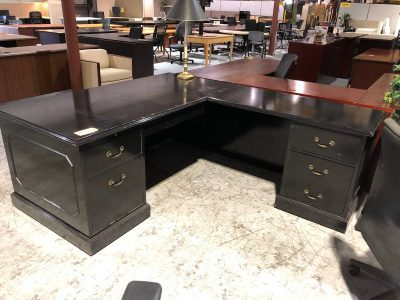 Black Office L-Shape Desk used