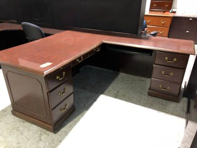 Used L-shaped office desks Nashville
